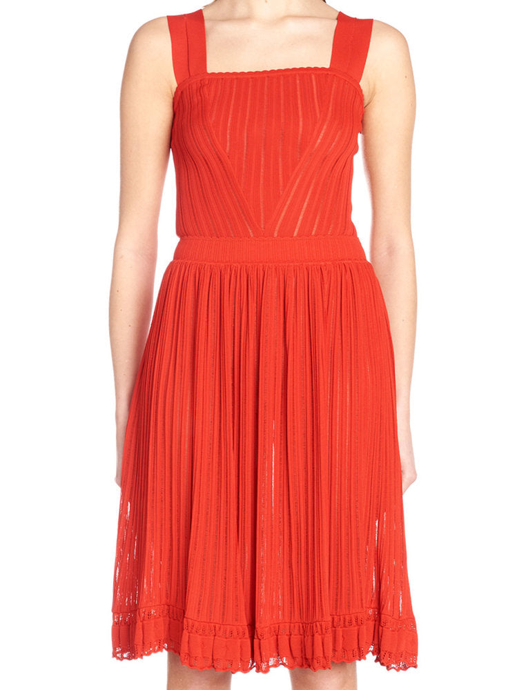 5199f147f14 AlaÏA Flared Mini Dress In Red