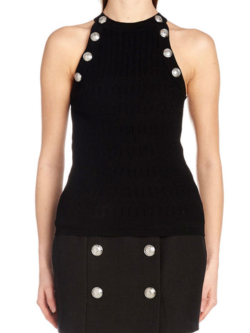 Balmain Button Detail Knit Top