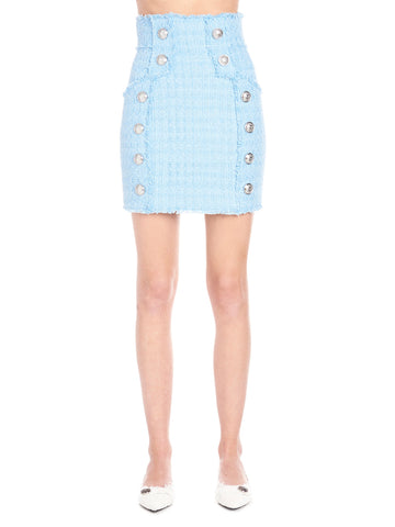 Balmain Embellished Tweed Skirt