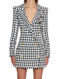 Balmain Double Breasted Houndstooth Jacket