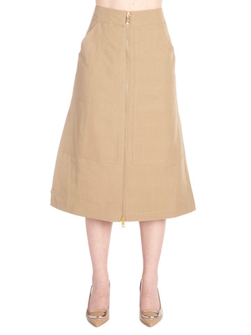 Burberry Zipped High Waisted Skirt