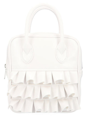 Comme Des GarÇons Girl Ruffled Top Handle Tote Bag