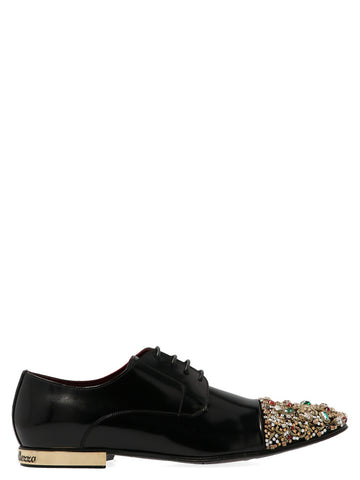 Dolce & Gabbana Embellished Lace-Up Shoes