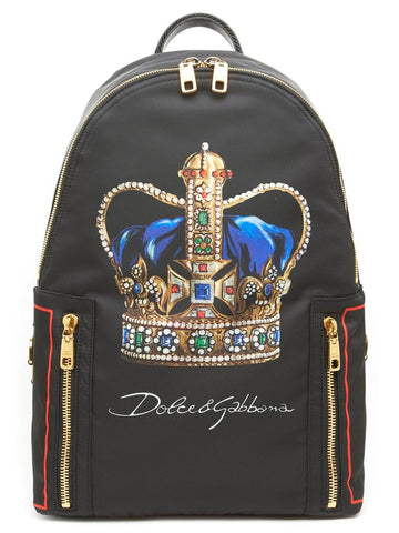 Dolce & Gabbana Crown Embroidered Backpack