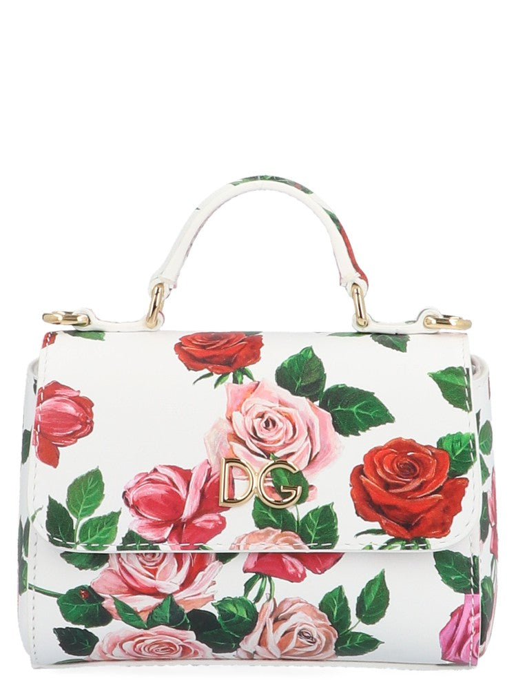 Dolce   Gabbana Floral Print Top Handle Bag – Cettire afebb06e15e96