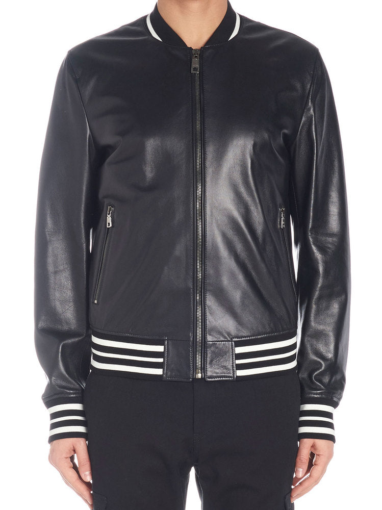 8e7ad1bb1d Zip-Up Bomber in Black