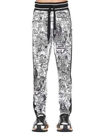 Dolce & Gabbana Graffiti Print Sweatpants