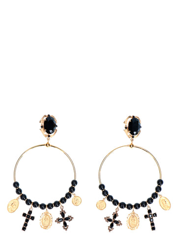 Dolce & Gabbana Beaded Hoop Earrings