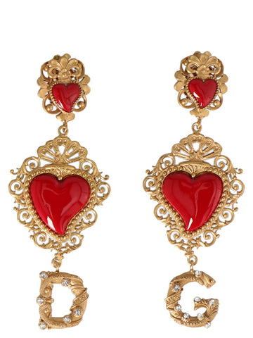 Dolce & Gabbana Sacred Heart Logo Earrings