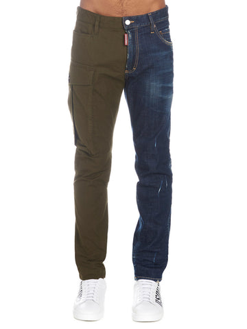 Dsquared2 Contrast Denim Cargo Pants