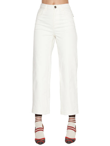 Fendi Cropped Flared Jeans
