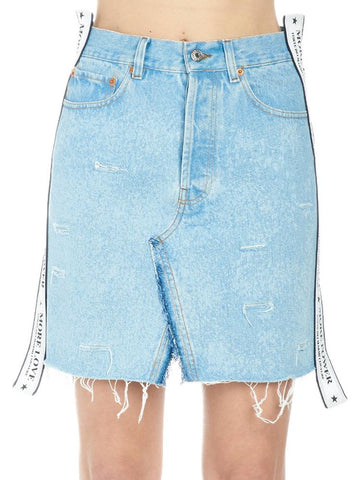Forte Dei Marmi Couture Distressed Mini Skirt