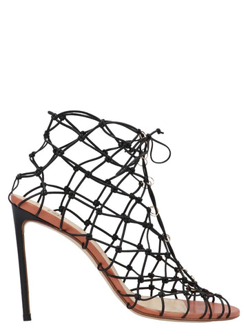 Francesco Russo Fishnet Ring Embellished Pumps