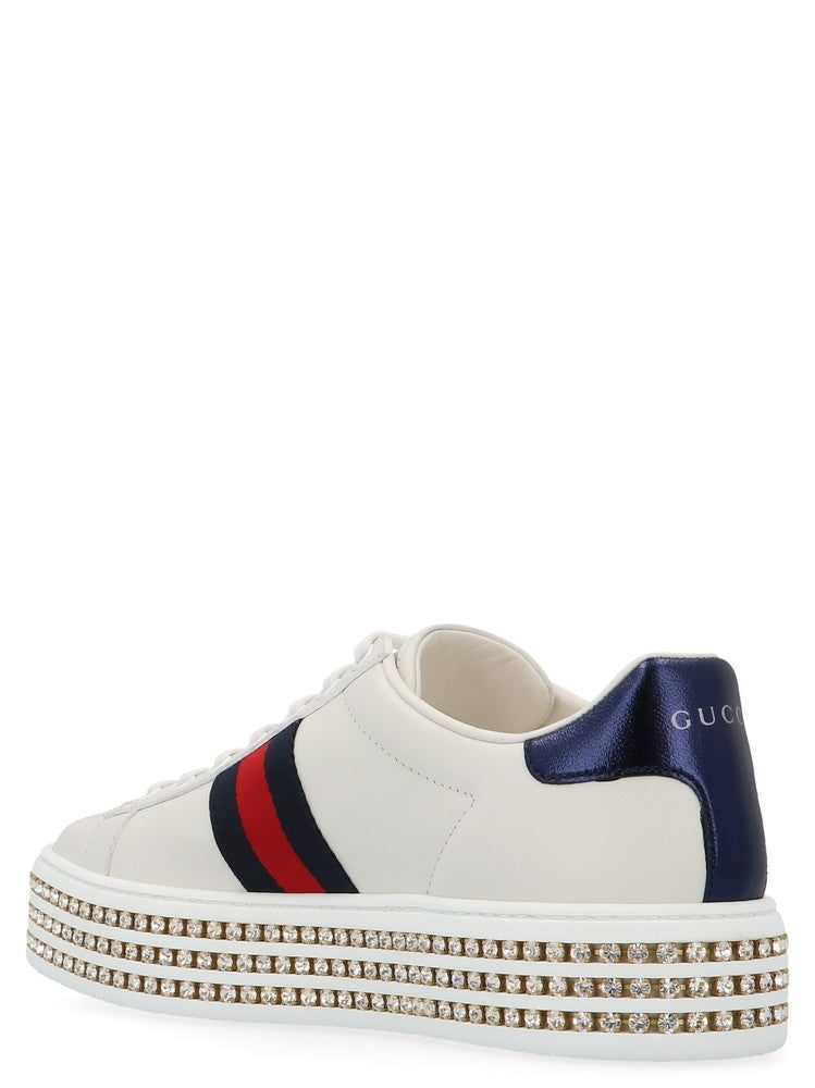 43047e885be Gucci Ace Crystal Studded Sneakers – Cettire