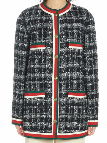 Gucci Tweed Web Detail Jacket