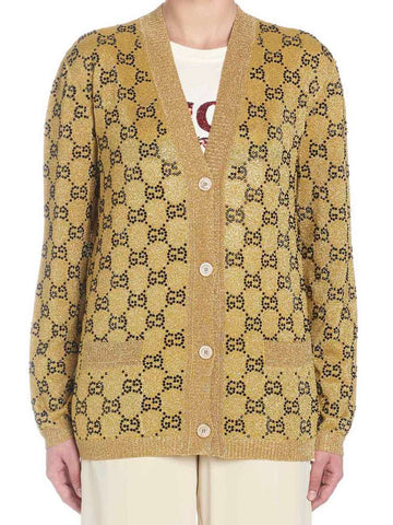 Gucci Lurex Monogram Cardigan