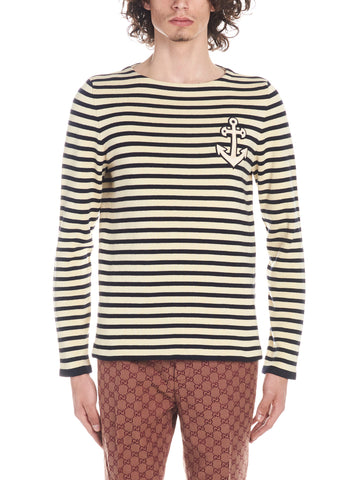 Gucci Striped Long-Sleeved T-Shirt