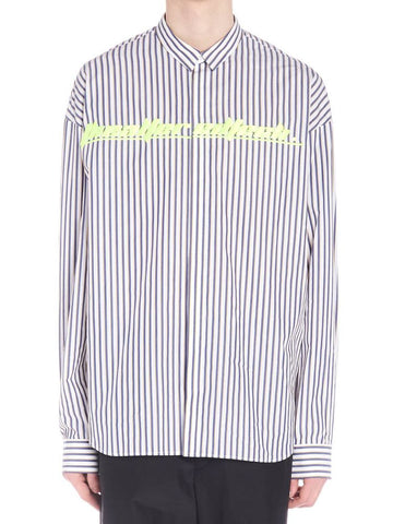 Juun.J Fluorescent Detail Striped Shirt