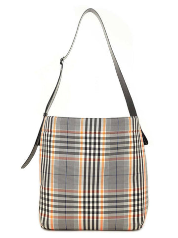 Juun.J Check Patterned Shoulder Bag