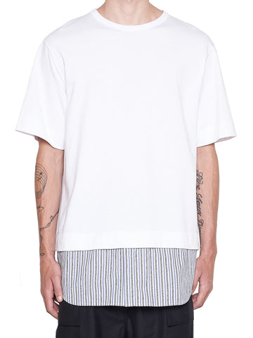 Juun.J Striped Trim T-Shirt