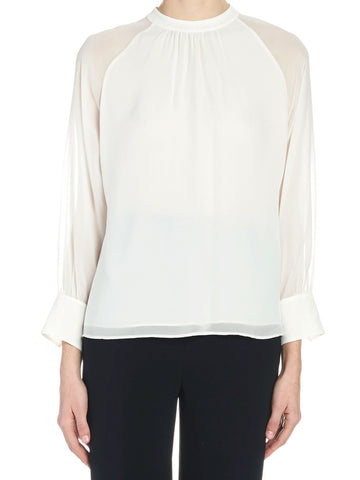 Max Mara Studio Sheer Silk Blouse