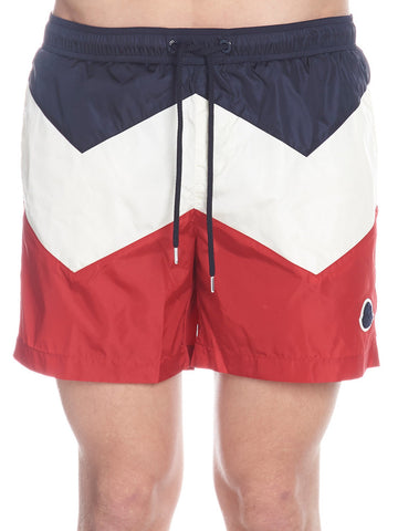 Moncler Stripe Swim Trunks