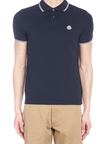 Moncler Stripe Detail Polo Shirt