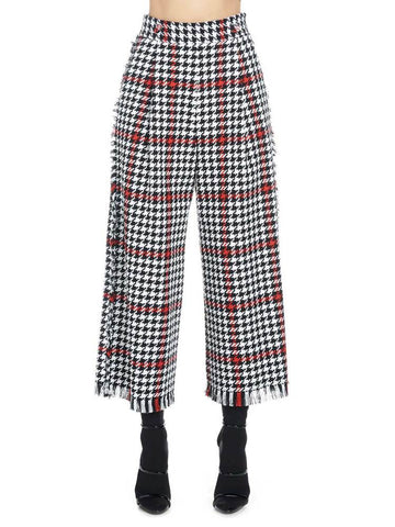 Msgm Houndstooth Cropped Pants