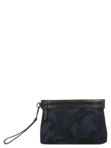 Mulberry Camouflage Zipped Clutch Bag