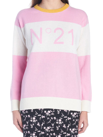 N°21 Logo Striped Sweater