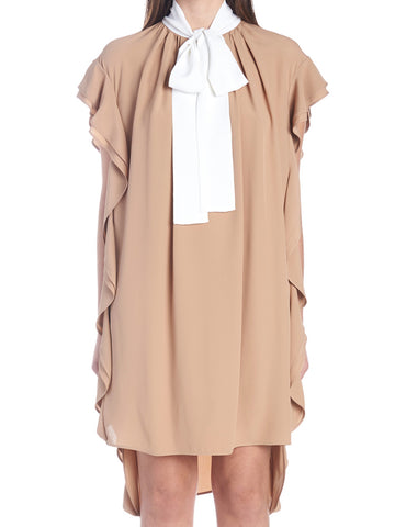 N°21 Ruffled Short Shift Dress