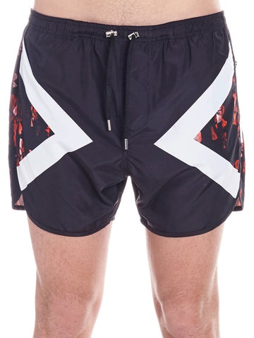 Neil Barrett Printed Swim Trunks