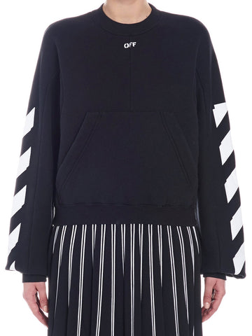 Off-white Printed Sleeves Sweater