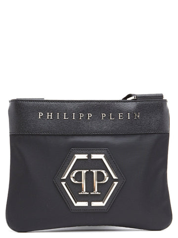 Philipp Plei Logo Embossed Shoulder Bag