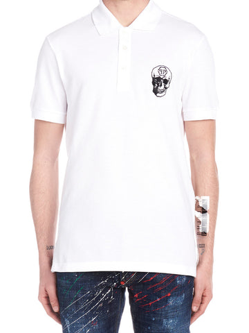 Philipp Plein Skull Printed Polo Shirt