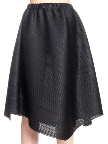 Pleats Please By Issey Miyake Cross Grain Skirt