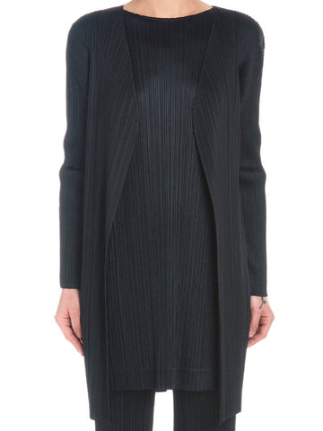 Pleats Please By Issey Miyake Pleated Oversized Cardigan