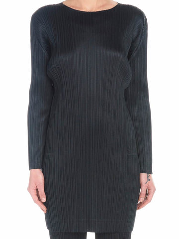 Pleats Please By Issey Miyake Pleated Oversized Top
