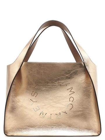 Stella McCartney Metallic Logo Tote Bag