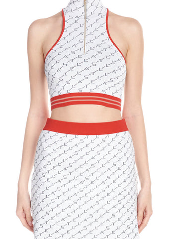Stella McCartney Racer-Back Crop Top