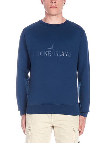 Stone Island Logo Embroidered Sweatshirt