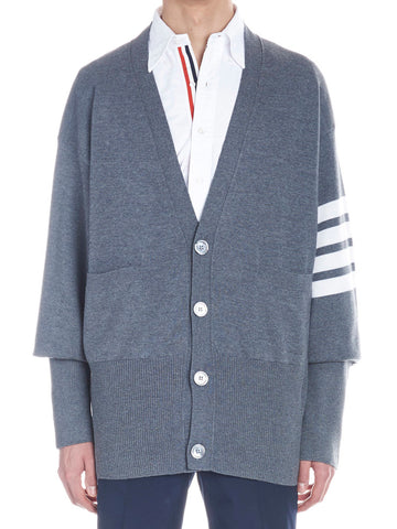 Thom Browne Oversized Striped Cardigan