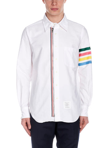 Thom Browne Zip-Detail Oxford Shirt