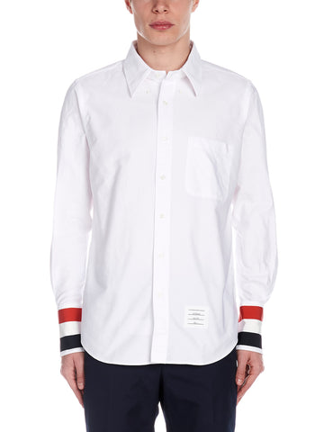 Thom Browne Cuff-Detail Button-Up Shirt