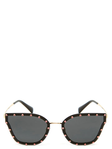 Valentino Swarovski Butterfly Shaped Sunglasses
