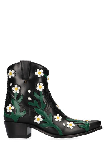 Valentino Floral Emboidered Boots