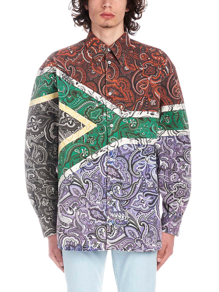 Y/project T-shirts Y / PROJECT SOUTH AFRICA PRINTED SHIRT