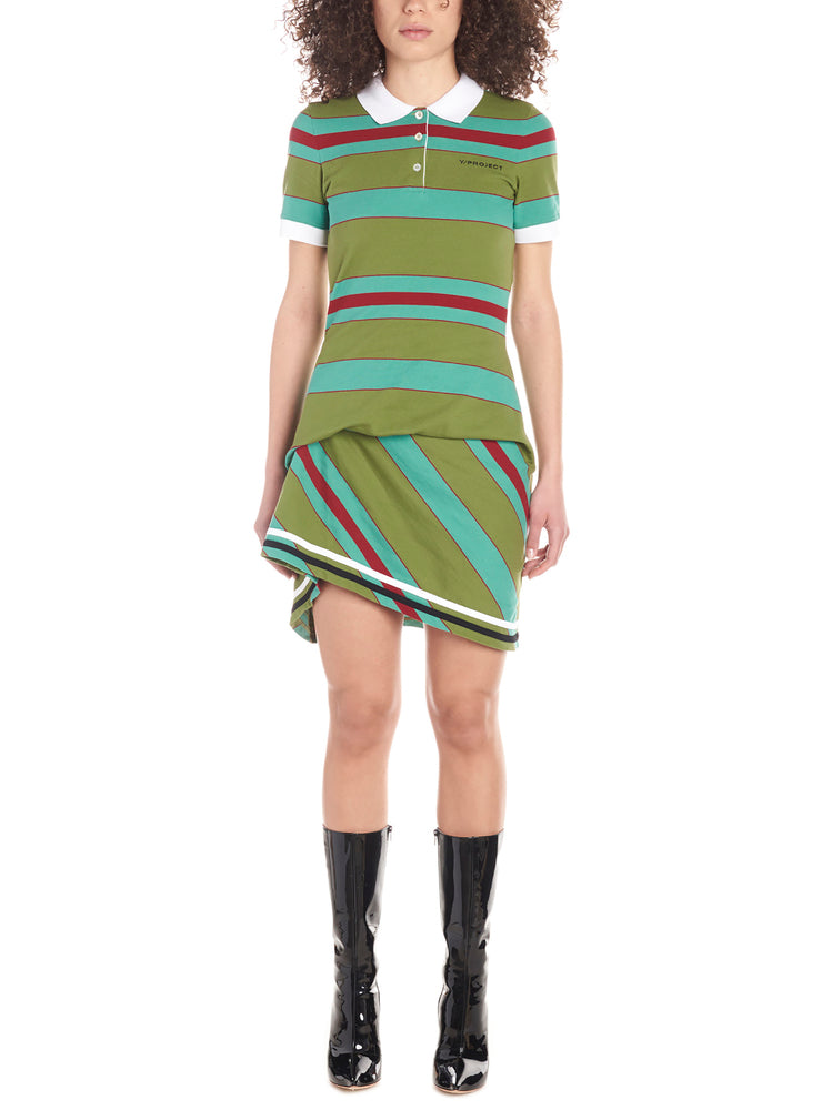 Y/project Dresses Y / PROJECT STRIPED POLO SHIRT DRESS