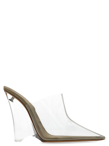 Yeezy Transparent PVC Pointed Toe Mules