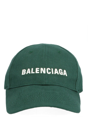 Balenciaga Logo Embroidered Cap